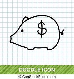 piggybank doodle