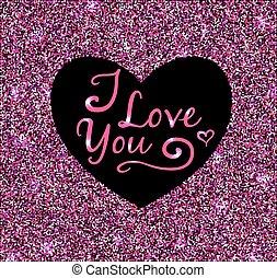 Valentine pink glittering background