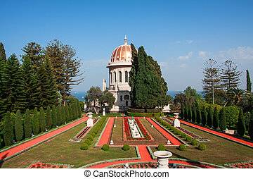 Haifa - View of  Bahai garden