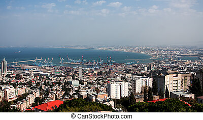 Haifa - View of Haifa port