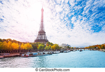 Greatest monument of Paris, the Eiffel Tower - View from...
