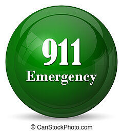 911 Emergency icon Internet button on white background