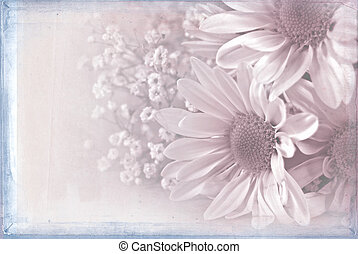 daisy bouquet with misty overlay - Wedding daisy bouquet...