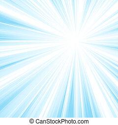 Square blue light burst