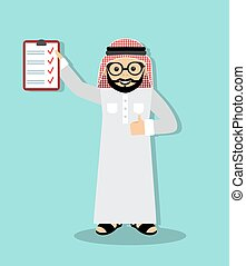 Arabic businessman - happy Arab businessman in traditional...