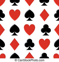 Casino poker seamless pattern