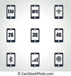 3G, 4G and LTE technology Wireless communication technology...