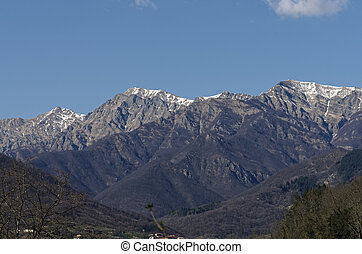 apuan alps - view of apuan alps in tuscany italy