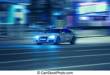 行きなさい, 自動車, 都市, 夜
