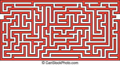 Panoramic Maze - Vector Illustration of Panoramic Maze