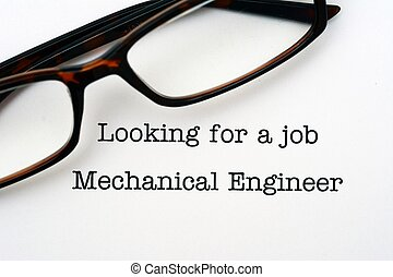 Looking for a job Mechanical Engineer