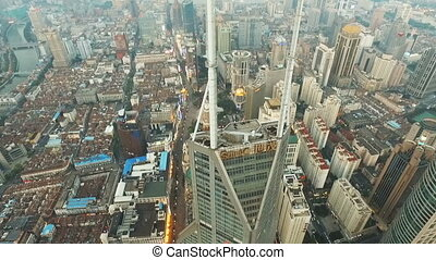 Amazing Aerial Views of Shanghai - Aerial view of high-rise...