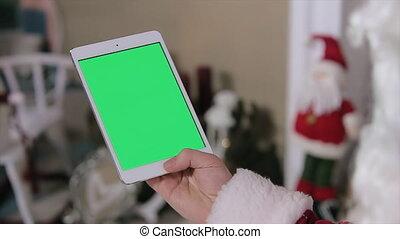 Santa Claus Chroma Key Tablet