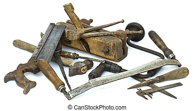 Old Carpenter Tools - Collection of Carpenter Tools Pile