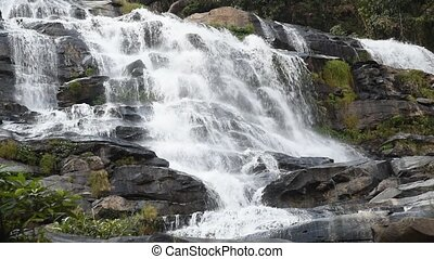 Mountain stream - Beautiful waterfall, Mountain stream...