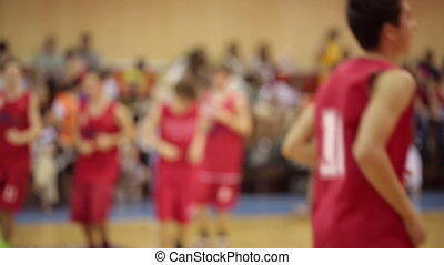 Basketball Players Workout - DONETSK, UKRAINE- 10 June 2014:...