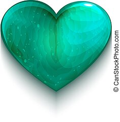 Turquoise heart symbol of love Illustration in vector format...