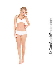 lovely woman in white cotton underwear - picture of lovely...