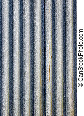 Corrugated metal sheet for background - Rusted metal...