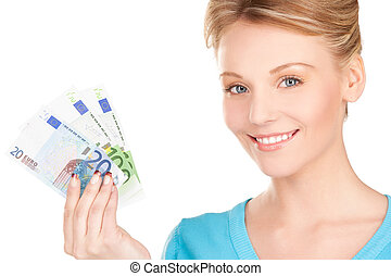 lovely woman with money - picture of lovely woman with money...