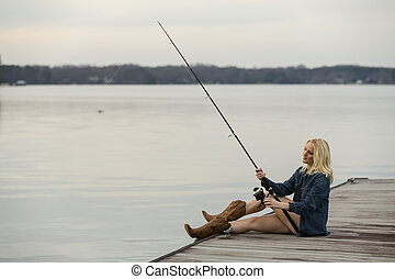 Young Female Angler