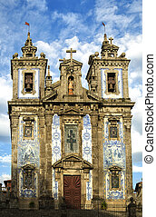 The Igreja de Santo Ildefonso church in Porto -...