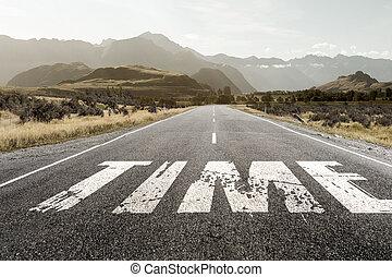 Best time is now - Natural landscape of asphalt road and...