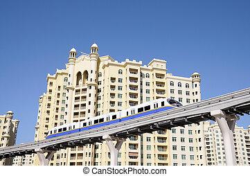 Palm Jumeirah Monorail in Dubai, United Arab Emirates