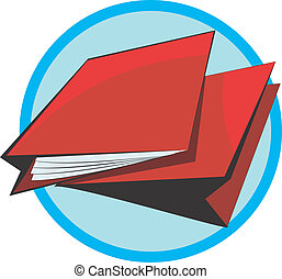 File	 - Illustration of two red cover files