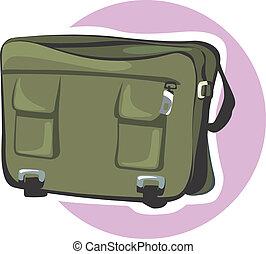 Bag - Illustration of a leather bag