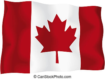 Canada - Canadian flag - Canadian wavy flag isolated on...