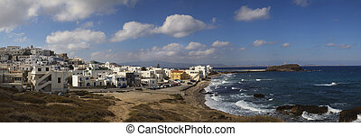Panorama of Naxos in Greece - Panorama of Naxos in the...