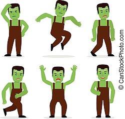 Frankenstein monster vector - Frankenstein monster in...