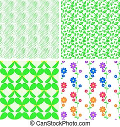 A set of four vector seamless patterns