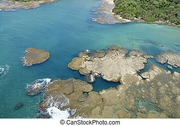 Gatun Lake, Panama Canal - Aerial view of Gatun Lake, Panama...