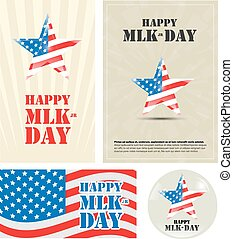 Happy Martin Luther King Day - nice and beautiful vector...