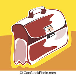Bag - Illustration of a leather bag