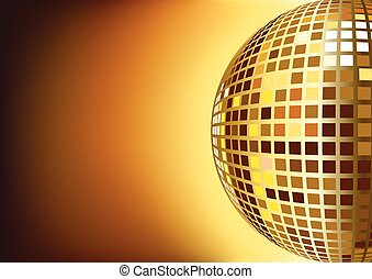 Disco Light Ball - Illustration of mirror disco ball for...