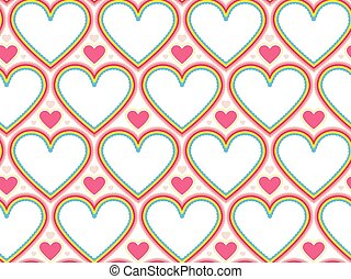 Wrapping paper Valentines Day Heart shape seamless...