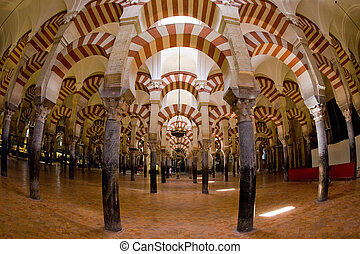 interior of Mosque-Cathedral, Cordoba, Andalusia, Spain