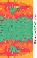 Green bright color triangles background