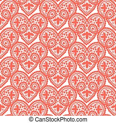 Heart lace pattern