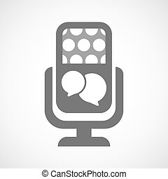 Isolated microphone icon with  comic balloons
