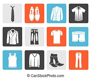 man fashion and clothes icons - Black man fashion and...