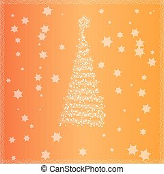 Christmas tree with yellow background