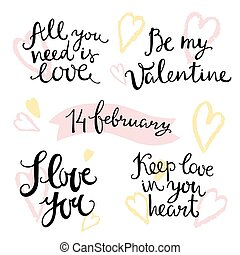 Valentines hand lettering