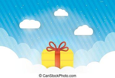 Gift box in the sky