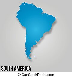South America map background vector illutstration image