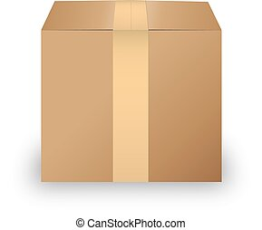 Carton box isolated on white background