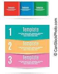 Step by step info graphics template vector illustration